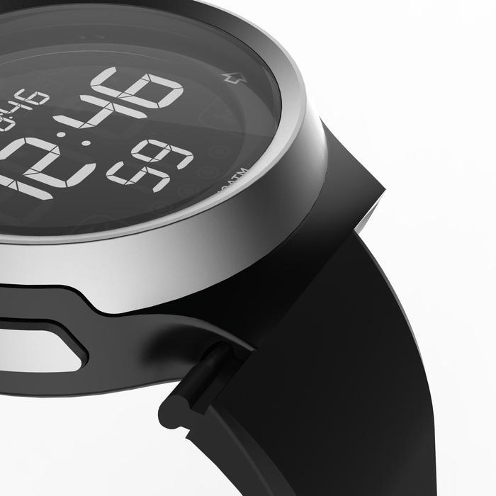 Montre chronomètre de course à pied homme W900 noire reverse