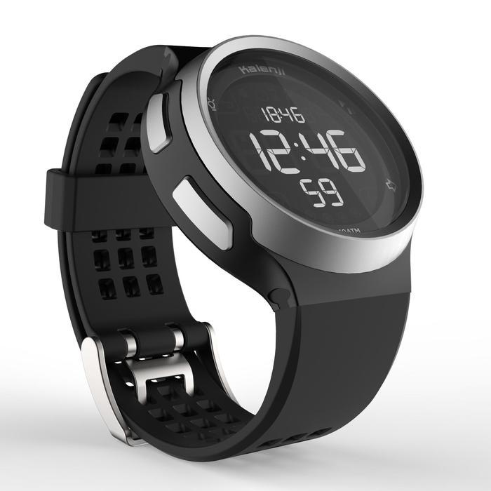 Montre chronomètre de course à pied homme W900 noire reverse - 1328241