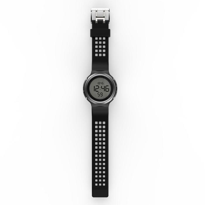 Montre chronomètre de course à pied homme W900 noire reverse - 1328242