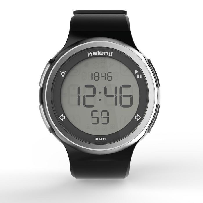 Montre chronomètre de course à pied homme W900 noire reverse - 1328243