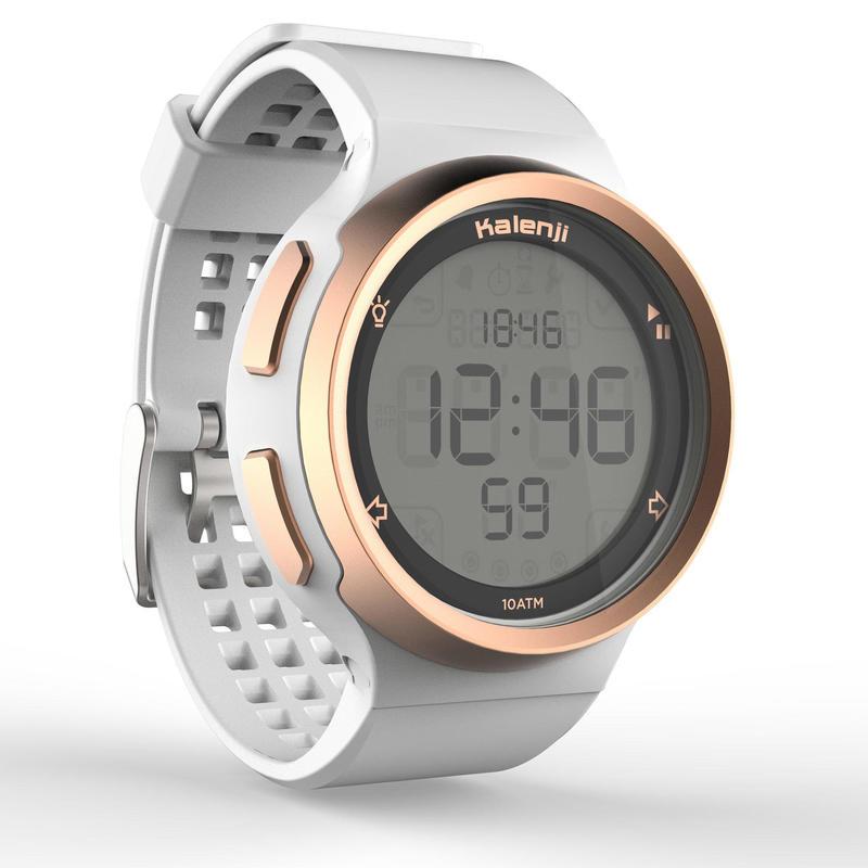 Reloj deporte hombre W900 M SWIP temporizador blanco oro