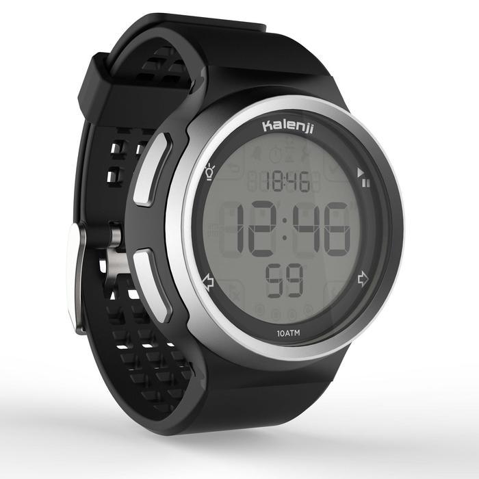 Montre chronomètre de course à pied homme W900 noire reverse - 1328247