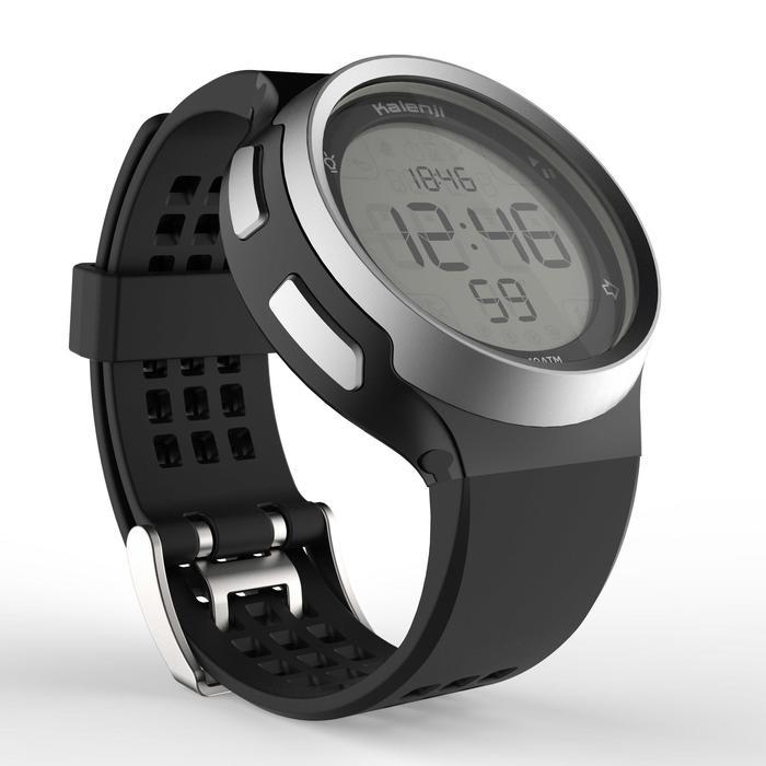 Montre chronomètre de course à pied homme W900 noire reverse - 1328250