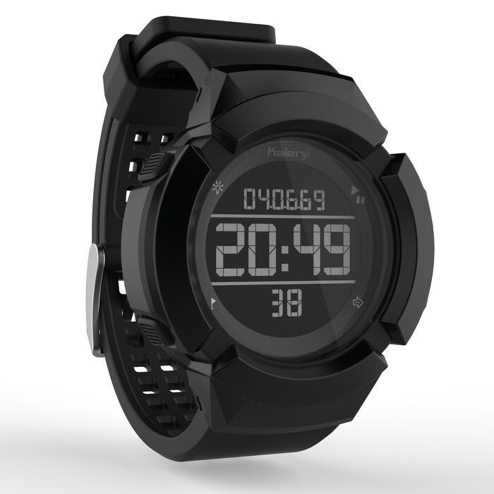 Montre chronomètre antichoc de course à pied homme W700xc M noir