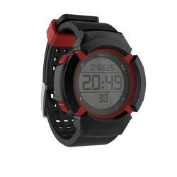 Reloj Cronómetro Running Kalenji W700XC M Negro/Rojo Antiimpactos