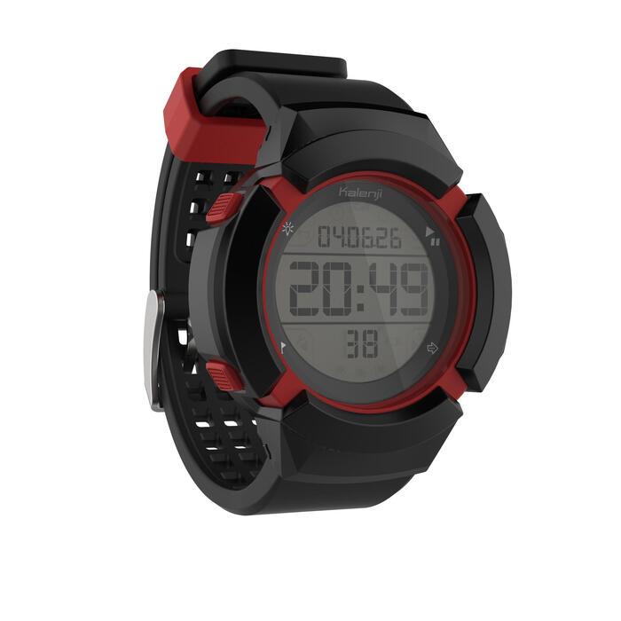 Schokbestendig horloge met stopwatch W700XC+ M zwart en rood