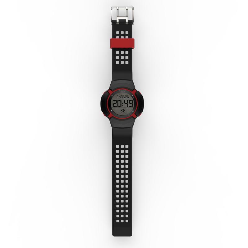 Đồng hồ thể thao chống shock W700xc M SWIP - Đen/ Đỏ