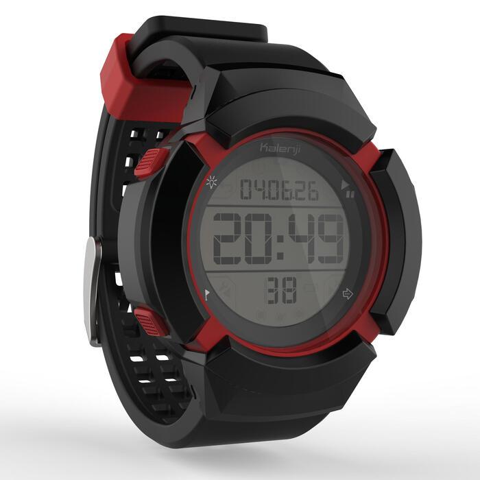Montre chronomètre de course à pied homme W700xc M NOIRE et ROUGE