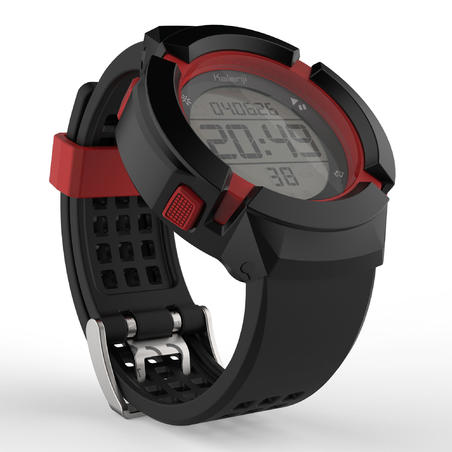 W700xc Men's Running Stopwatch - BLACK and RED