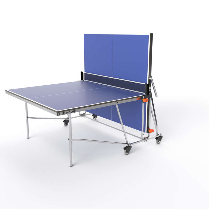 СТОЛЫ ДЛЯ НАСТОЛЬНОГО ТЕННИСА (УЛИЧНЫЕ НА ЛЮБУЮ ПОГОДУ) Игры с ракетками - СТОЛ ДЛЯ ПИНГ-ПОНГА FT 730  PONGORI - Настольный теннис