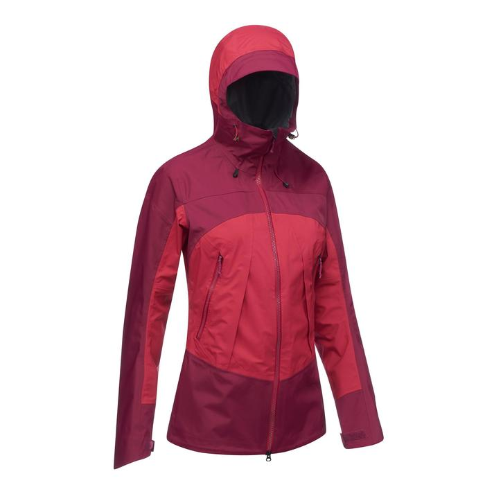 Trekkingjacke Trek 500 wasserdicht Damen rosa