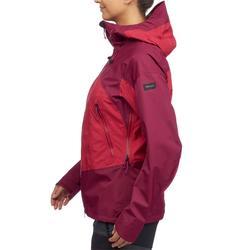 Chaqueta impermeable trekking montaña TREK 500 mujer rosa