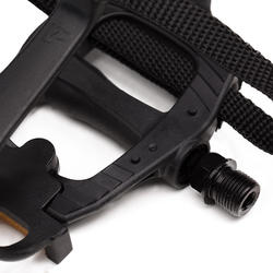 100 Resin Road Biking Pedals With Toe Clips