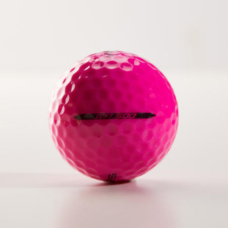 Balle de golf SOFT 500 X12 rose