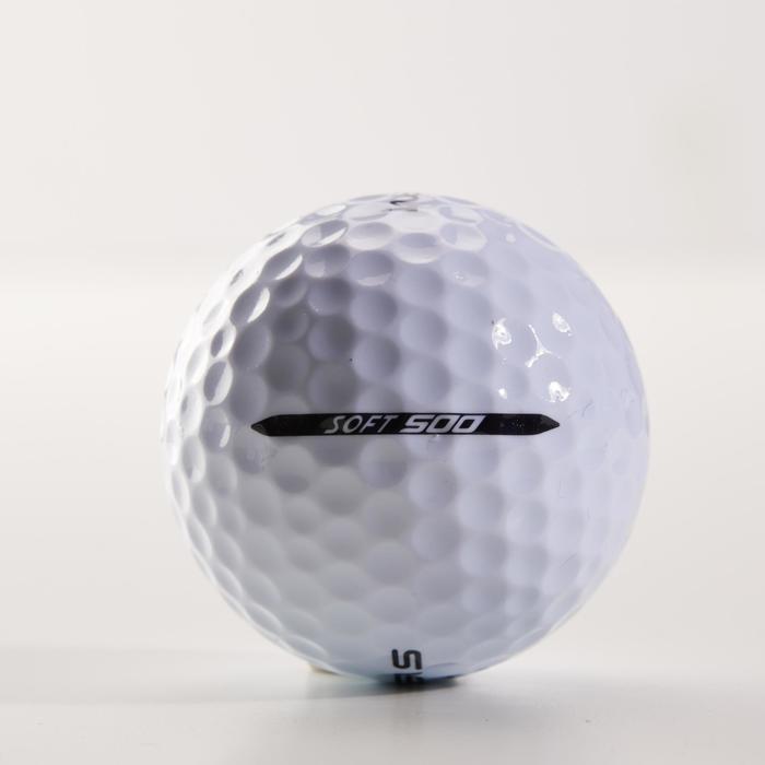 Bola de golf SOFT 500 X12 Blanco