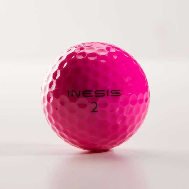 ТОПКИ, РЪКАВИЦИ, ТИЙ ГОЛФ Голф - Топка за голф SOFT 500 X12 INESIS - Стикове и топки за голф