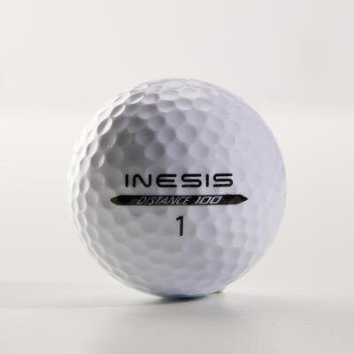 Balle de golf DISTANCE 100 X12 blanc