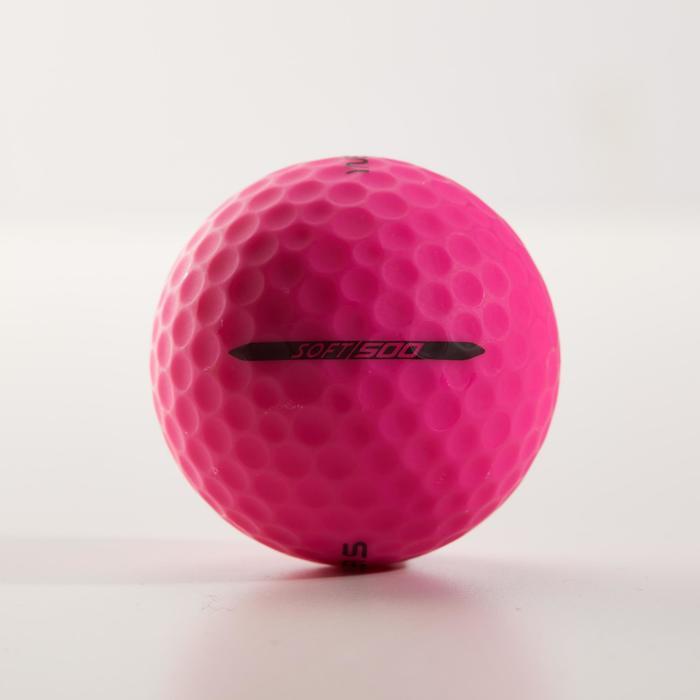 Golfballen Soft 500 Mat x12 roze