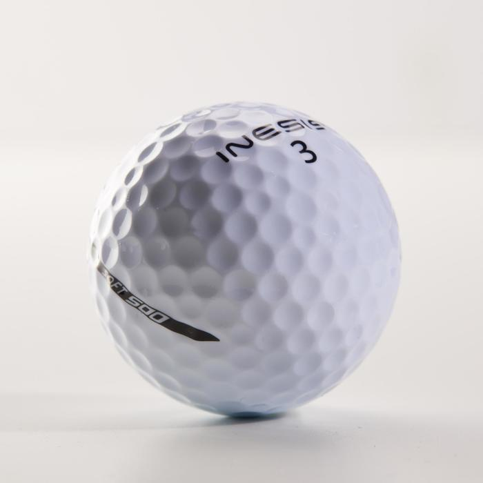 Golfbälle Soft 500 12 Stück weiß