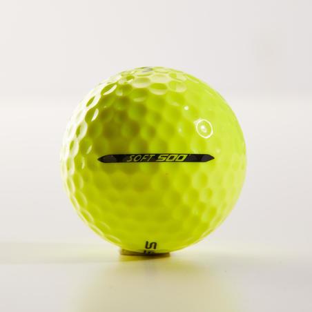 Pelota de golf SOFT 500 X12 amarillo