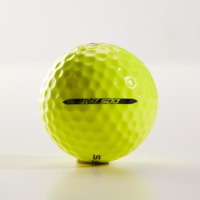 Balle de golf SOFT 500 X12 mat - 1328540