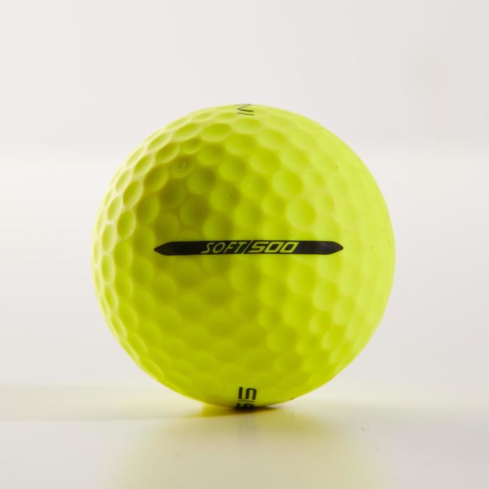 Soft 500 Matt Yellow Golf Ball x12