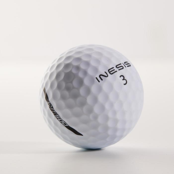 Soft 500 Matt White Golf Ball x12