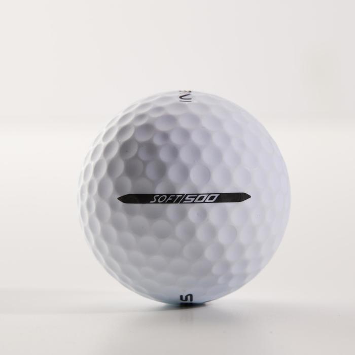 Balle de golf SOFT 500 Matte X12 Blanc