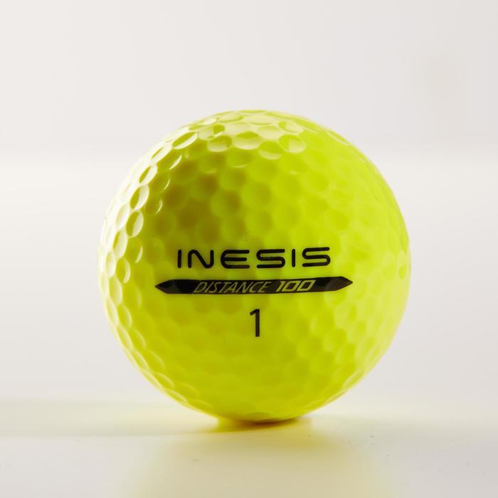 Distance 100 Golf Ball x12 - Yellow