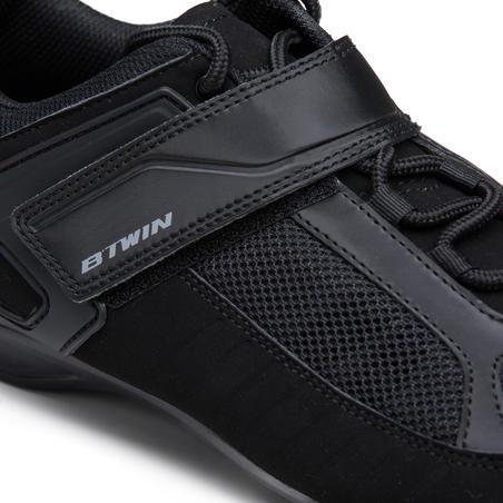 Zapatillas de ciclismo para cicloturismo ROADC 100 negro