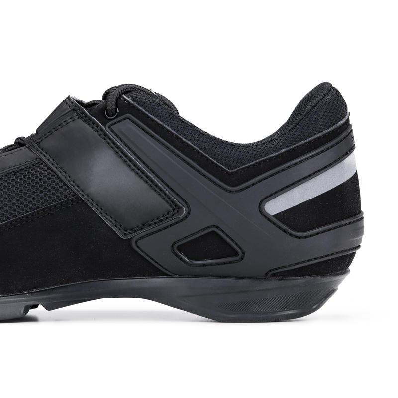Zapatillas de ciclismo cicloturismo ROADC 100 negras