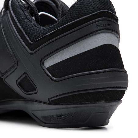 RC100 Lace Up Cycling Shoes - Black
