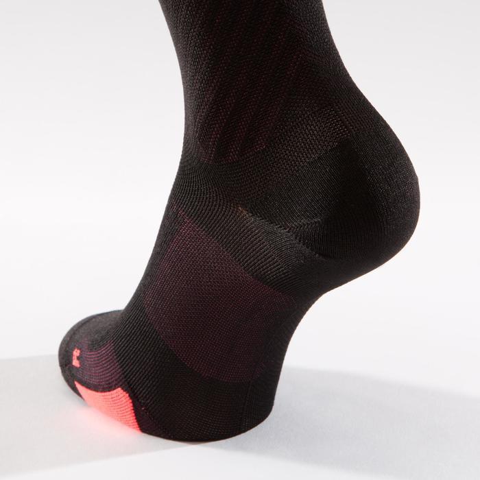 Fahrrad-Socken Rennrad 900 schwarz/rosa