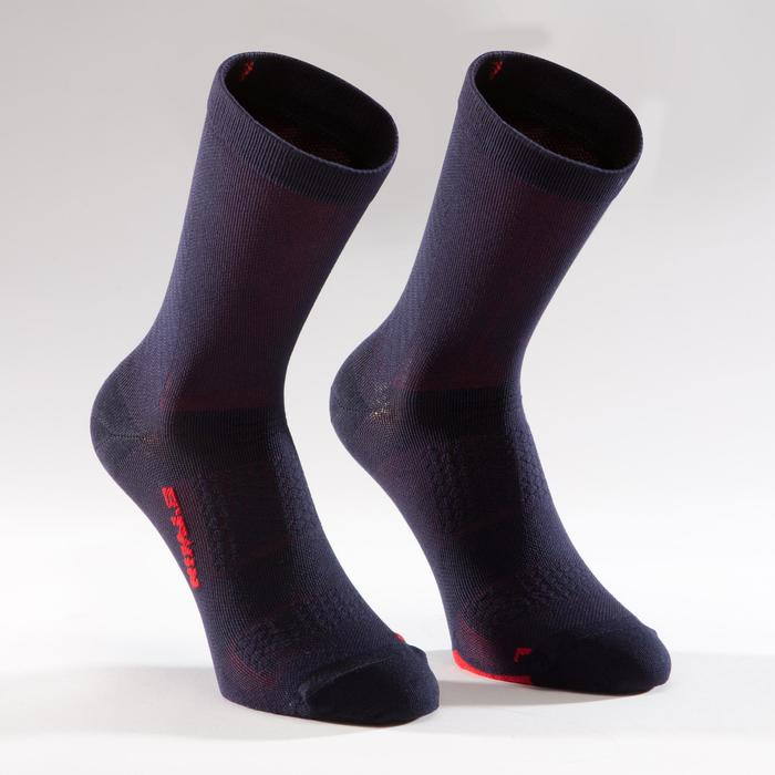 900 Road Cycling Socks - Navy/Red - 1328650