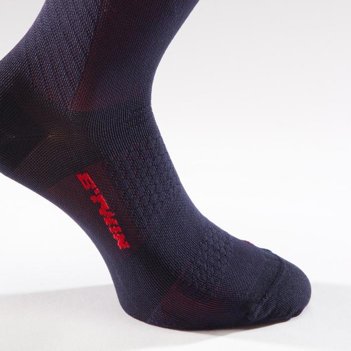 Fahrrad-Socken Rennrad 900 dunkelblau/rot
