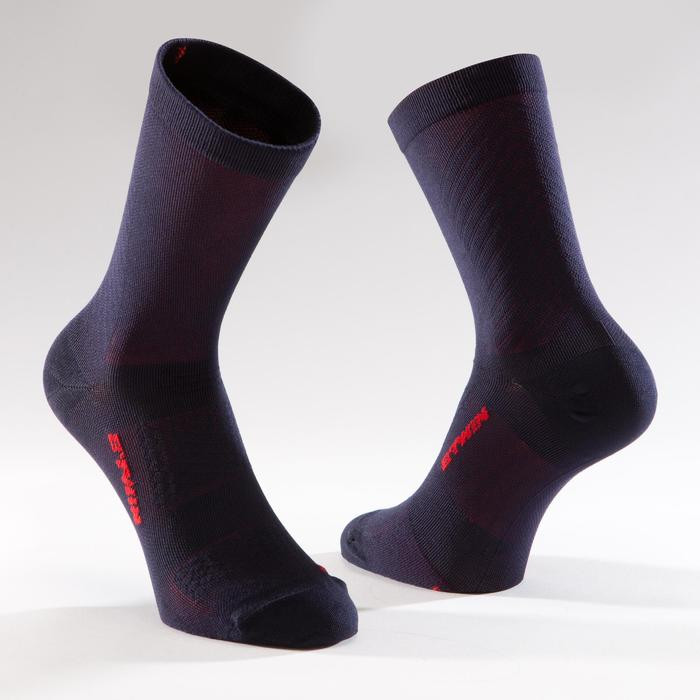 900 Road Cycling Socks - Navy/Red - 1328655