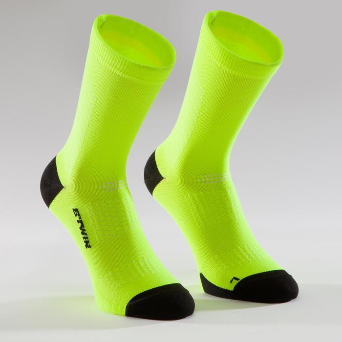 Fahrrad-Socken Rennrad 900 gelb fluo/schwarz