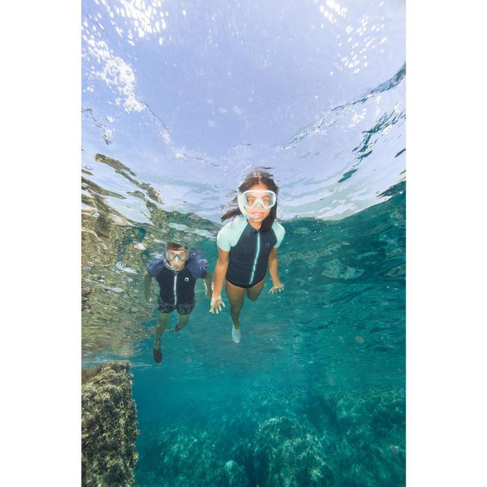 Máscara Snorkel Buceo Apnea Subea FRD100 Niños Verde Turquesa Gris