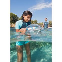 Flotador Playa Snorkel Subea SNK Olu 100 Niño Azul Naranja Peces