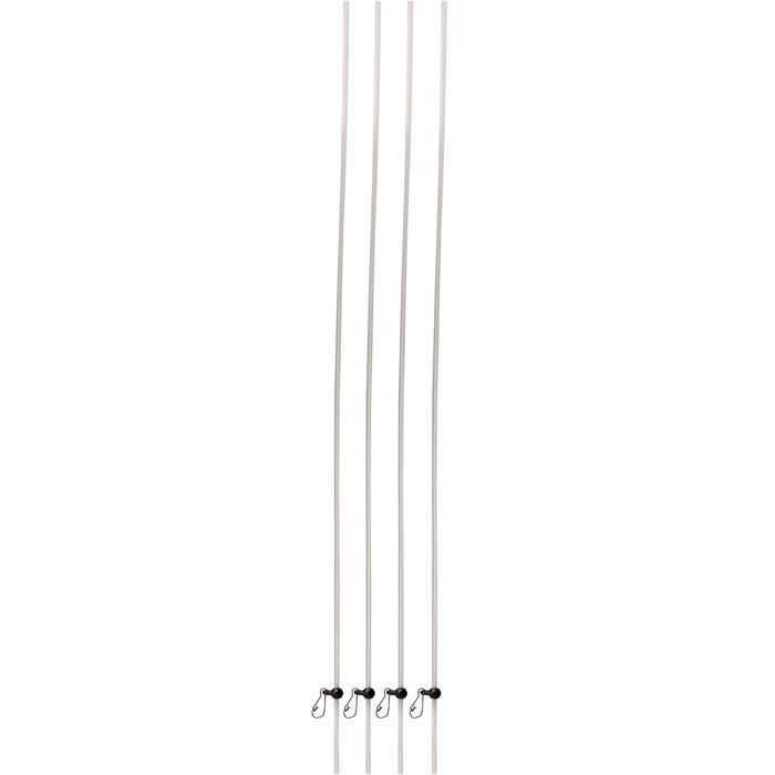 Accessoire voor karpervissen anti-tangle doorschijnend 40 cm - 1328847