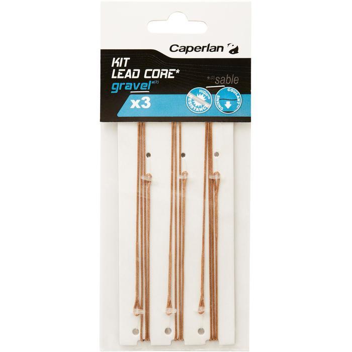 Accessoires karpervissen set Lead Core zand - 1328850