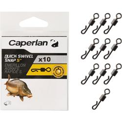 EMERILLÓN QUICK SWIVEL SNAP S PESCA DE LA CARPA