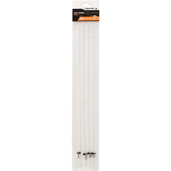 Accessoire voor karpervissen anti-tangle doorschijnend 40 cm - 1328869
