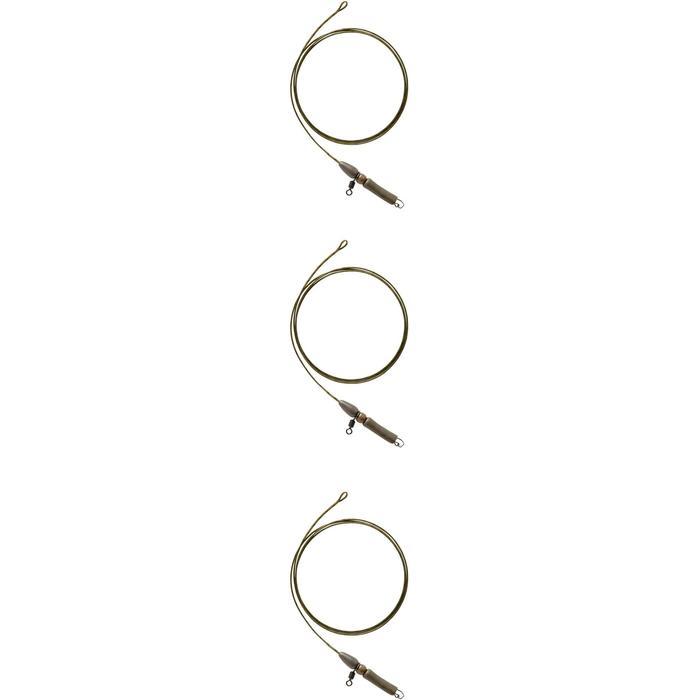Set Leadcore und Helikopter-Rig olivgrün Karpfenangeln