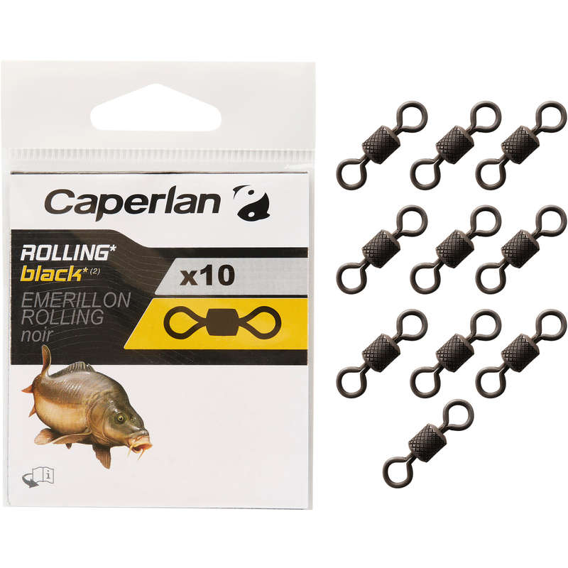 ACCESSORI LENZA CARPA Pesca - Girella ROLLING BLACK CAPERLAN - CARPFISHING