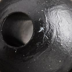 Zachte kraal zwart 6 mm karpervissen