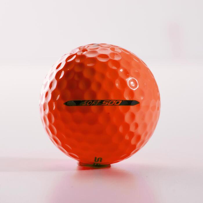 Balle de golf SOFT 500 X12 mat - 1328942