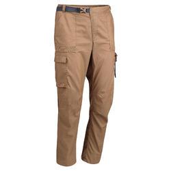 Men's Desert Trekking Trousers DESERT 500 Brown