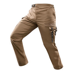沙漠健行長褲DESERT 500 H-棕色