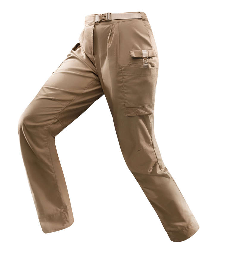 OUTFIT DESERT TREKKING Hiking - DESERT 500 W TROUSERS - BROWN FORCLAZ - Hiking Clothes